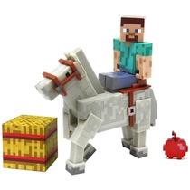 Boneco Minecraft Steve C/ Cavalo Lacrado Original Multikids