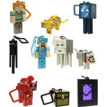 Kit 10 Chaveiros Minecraft Hangers Series 2 - Novos