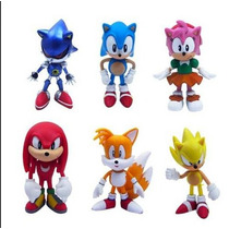 Bonecos Sonic Kit 6 Peças - Pronta Entrega!