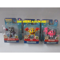 Bonecos Pac Man - Pac, Metal Pac E Cylindria.