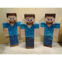 Steve Minecraft 20 Cm Gesso, 10 Reais