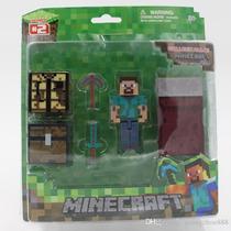 Boneco Minecraft Steve Survival Pack - Novo Pronta Entrega