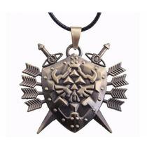 Colar Pingente Zelda - Hylian Shield - Ocarina Of Time