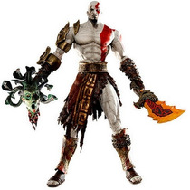 Boneco Kratos Com Medusa Head God Of War - Pronta Entrega!