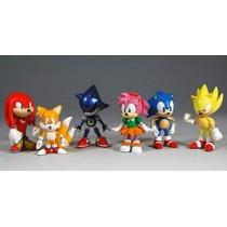Kit Action Figure Sonic - Conjunto Com 6 Bonecos 6cm Alt