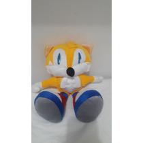 Boneco De Pelúcia Sonic Tails Sega 40 Cm