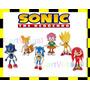 Coleção Bonecos Sonic The Hedgehog Kit Com 6 Miniaturas Sega