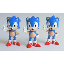 Kit Coleção 3 Bonecos Sonic Miniatura Tectoy Raridade