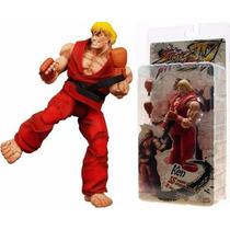 Boneco Miniatura - Ken - Street Fighter Iv - Neca Toys 18 Cm