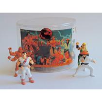 Bonecos Mortal Kombat Miniatura Balde Tectoy Com 24 Bonecos