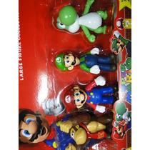 Kit 04 Bonecos Super Mario Bros Yoshi Luigi Donkey Kong