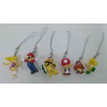 Kit Miniaturas Chaveiro 7 Pçs Super Mario Bros