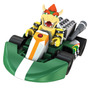 Mario Kart Bowser Boneco + Carrinho À Pilha Kit Montar 26pçs
