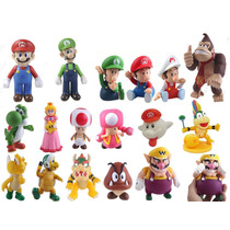 Bonecos Super Mario Bros Luigi Yoshi Tudo Por R$ 16,99 Cada