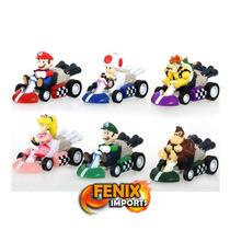 Mini Carrinhos Mario Kart 6 Peças Com Fricção Karts Mario