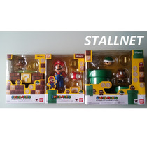 Boneco Super Mario + Play Set A + B Diorama Completo Bandai