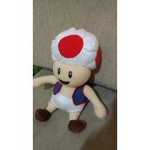 Boneco Pelúcia Toad Cogumelo Super Mario Bros