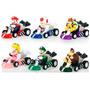 Miniaturas Mario Bros Kart Com Fricção Kit Com 6 Mini Karts