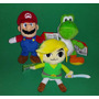 Super Mario Yoshi E Link Pelúcia Miniatura World Of Nintendo