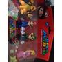 Kit Com 4 Bonecos: Mario, Luigi, Bowser(kopa) Princesa Peach