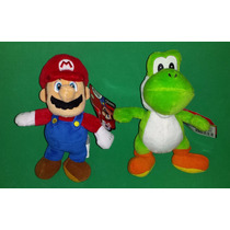 Super Mario E Yoshi Pelúcia Miniatura World Of Nintendo