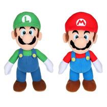 Kit 3 Bonecos Super Mario Bros E Luigi E Sonic