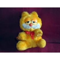 Personagem Garfield De Pelúcia Antigo Com Ventosas Nas Patas