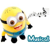 Boneco Pelúcia Minions Meu Malvado Favorito Musical 20 Cm