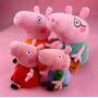Família Da Peppa Pig - Pelúcia - Grátis Dvd - Pronta Entrega