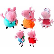 Família Da Peppa Pig + Bailarina Peppa De Pelúcia Pepa 30 Cm