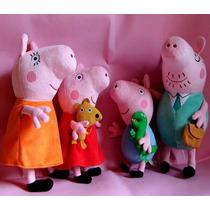 Peppa Pig Kit Familia Completa Plush- Pelúcia Pronta Entrega