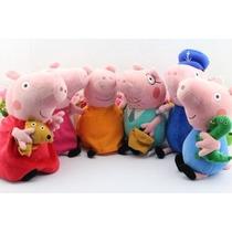 Peppa Pig Família 6 Personagens Antialérgico Pronta Entrega