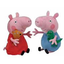 Kit 2 Pleucias Peppa Pig + Porquinho George - Pronta Entrega