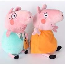 Papai Pig + Mamãe Pig 30 Cm *pronta Entrega* Pais Peppa Pig