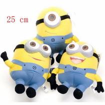 3 Bonecos Pelúcias Minion Alta Qualidade Kit Minions Bonecos