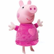 Boneca Peppa Pig 35cm De Pijama E Cabeça Vinil - Estrela