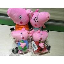 Peppa Pig - Familia Kit Com 4 Personagens - Pronta Entrega!