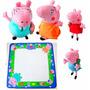 Família Da Peppa Pig + Tapete Para Desenhar Peppa Pig Pepa