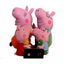 Familia Peppa Pepa Pig 4 Pelucias Bonecos Kit Grande Sucesso