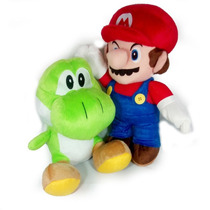Kit Pelúcia Mario Bros Articulado + Yoshi