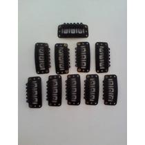 Presilhas De Tic Tac Preto Lot C/10 Uni 32mm