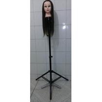 Tripé + Cabeça De Boneca Sintética Para Treino + Mochila