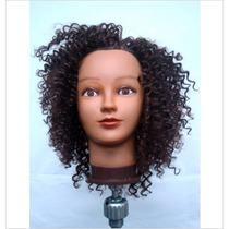 Cabeça De Treino Afro Sintética Ideal Cursos Corte,tranças
