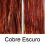 50 Fio De Ouro Para Cabelo Ruivo Escuro Cobre 80cm