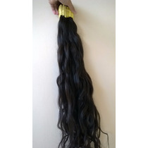 Mega Hair Levemente Ondulado 80cm 50 Gramas 100% Humano.