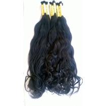 Cabelo Humano Mega Hair Levemente Ondulado 60-65cm 50 Gramas