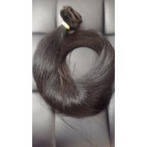 Cabelo Humano Preto Liso Tela 55 Cm 50 Gr- Mega Hair