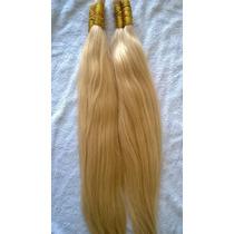 Cabelo Humano Loiro Claro Para Mega Hair 70cm 50 Gramas.