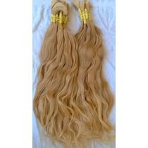 Cabelo Humano-mega-hair Loiro Claro Ondulado 70cm 50 Gramas.
