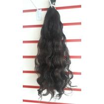 Cabelo Brasileiro Ondulado Castanho Tela 50gr 50cm Mega Hair